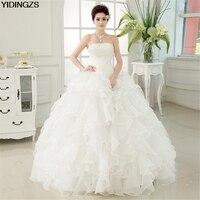 Romantic Red Wedding Dress Sweetheart Organza Ball Gown