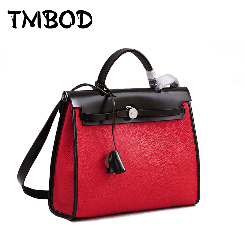 New 2018 2 size Designer Classic Casual Tote Popular Women Genuine Leather Handbags Ladies Bag Messenger Bags For Female an808 chispaulo women genuine leather handbags cowhide patent famous brands designer handbags high quality tote bag bolsa tassel c165
