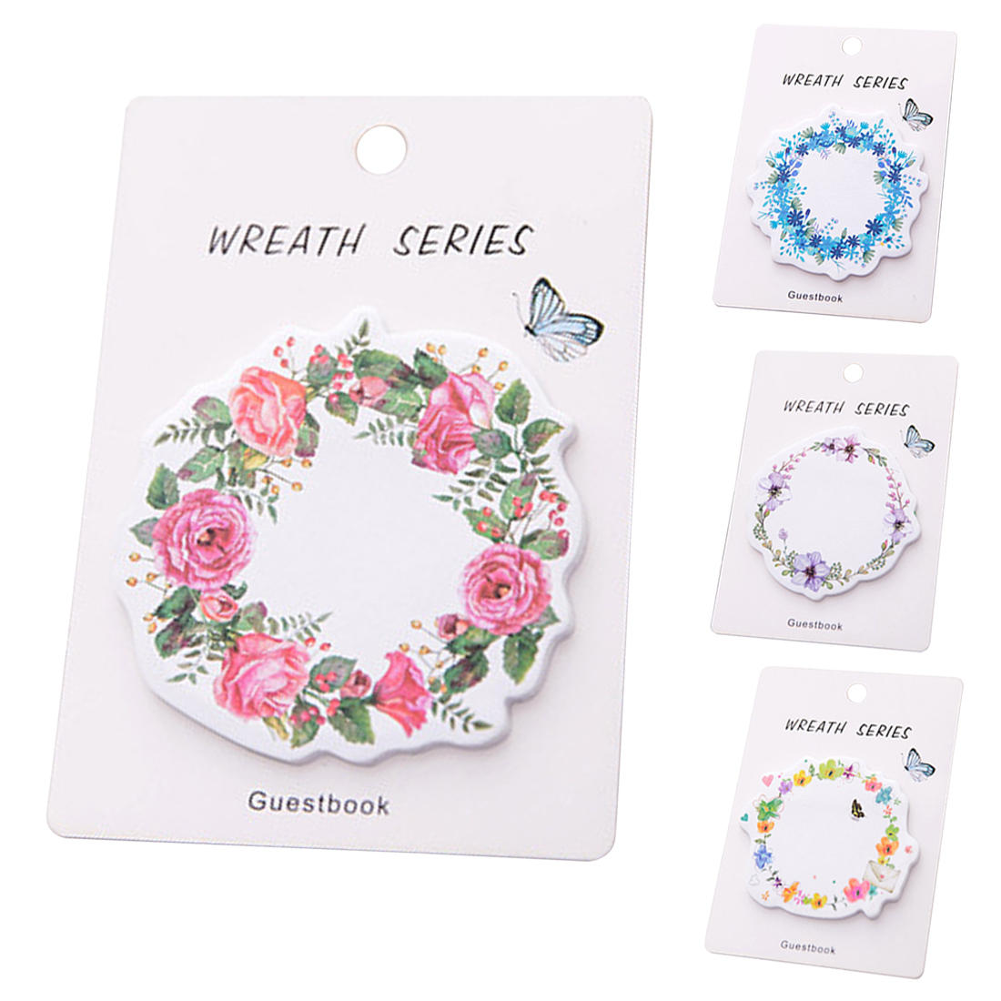 FangNymph Cute wreath post notes weekly plan Sticky Notes Post Memo Pad kawaii stationery School Supplies Planner Stickers Paper