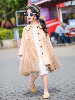 2019 Trench Coat For Girls Spring New Fashion Long Windbreaker For Teen Big Girls Jacket For A Teenager 6 7 9 10 12 Kids Clothes pantalon de niño 2019