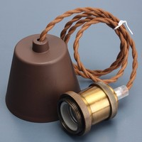 Retro Vintage E27 E26 Lamp Base Copper Edison Incandescent Light Bulb Pendant Lamp Holder Socket Ceiling