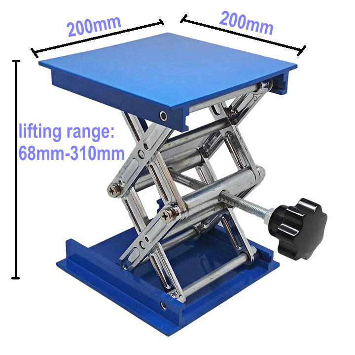 Meiyya Laboratory Lifting Platform Aluminum Oxide Laboratory Lifting Platform Stand Scissor Rack 150150250mm 1333g