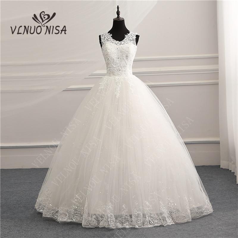V-Neck Korean Vintage Lace Appliques Ball Gown Wedding Dresses Customized Plus Size Bridal Dress Real Photo Fashion Elegant CC