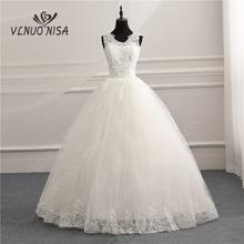 V ausschnitt Koreanische Vintage Spitze Appliques Ballkleid Hochzeit Kleider Angepasst Plus Größe Braut Kleid Real Photo Mode Elegante CC