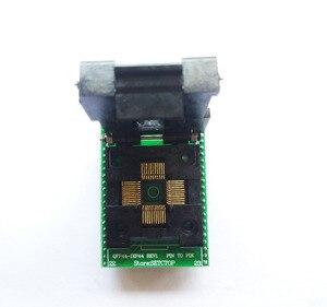 Image 3 - TQFP44 a DIP44 LQFP44 a DIP44 adaptador de enchufe programador QFP44 IC CHIP quema asiento (pin1 a Pin1) Paso de 0,8mm