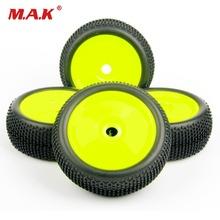 купить 4pcs/set 1/8 RC car tires set buggy off-road tyre rim 17mm hex F. Losi HPI Kyosho MP9 1:8 RC XTR badlands parts accessories в интернет-магазине