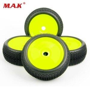 4pcs/set 1/8 RC car tires set buggy off-road tyre rim 17mm hex F. Losi HPI Kyosho MP9 1:8 RC XTR badlands parts accessories(China)