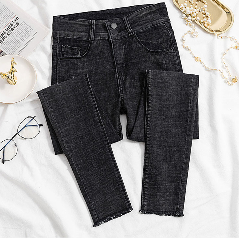 Jeans for Women black Jeans High Waist Jeans Woman High Elastic plus size Stretch Jeans female washed denim skinny pencil pants