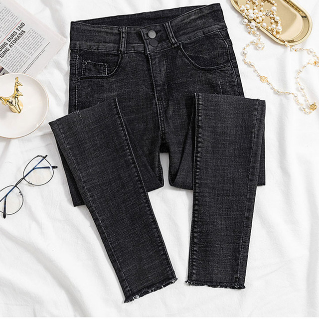 f4ee3b2101e Jeans for Women black Jeans High Waist Jeans Woman High Elastic plus size  Stretch Jeans female