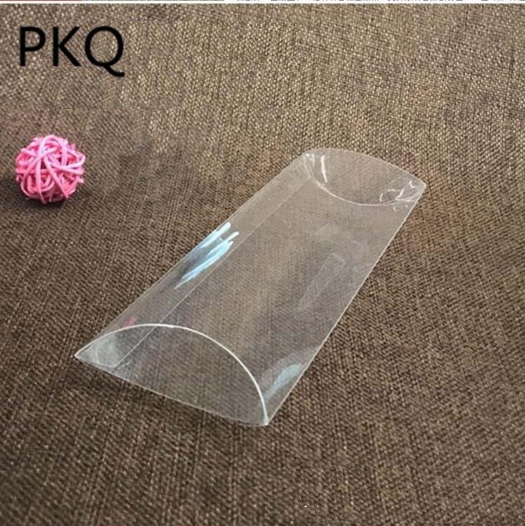 qi plastic clear pillow packaging hair extension packaging boxes small pvc pillow box clear plastic packaging pillow shape box