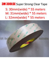 30mm or (31mm/32mm)* 55M 3M 9495LE 300LSE PET Clear Strong Adhesive 2 Side Sticky for Tablet Pad Phone LCD Windows Display Mount