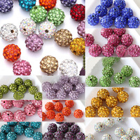 100 Quality Czech Crystal Rhinestones Pave Clay Round Disco Ball Spacer Beads 8mm10mm