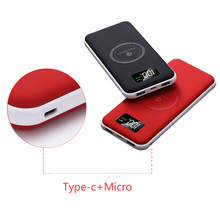 10000mAh Portable QI Wireless Charger Power Bank For iPhone Xiaomi Poverbank External Battery Fast Wireless Charging Powerbank стоимость