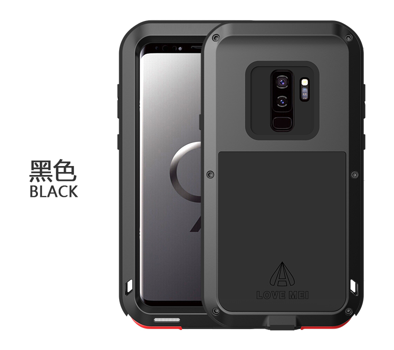 half off e3c24 5e75c US $30.0  Shockproof Dirt Proof Powerful Aluminum Case For Samsung Galaxy  S9 Plus Case Cover Phone Shell Skin Bag Without Gorilla Glass-in Fitted ...