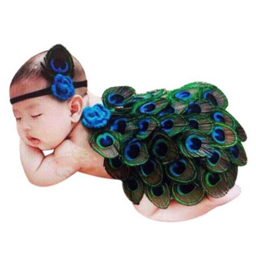 ROMIRUS Newborn Baby Girls Boys Costume Photo Photography Prop Outfits Princess Skirt Handmade Crochet Beaded Cap Headband M3