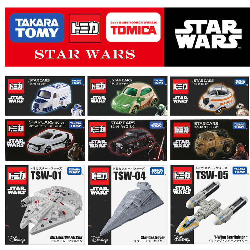 TOMICA  Star Cars Series BB8 TW-01 TSW-04 TSW-05 Star Cars Collection Hobbies Movie & TV Diecast Metal Model Toy Takara Tomy