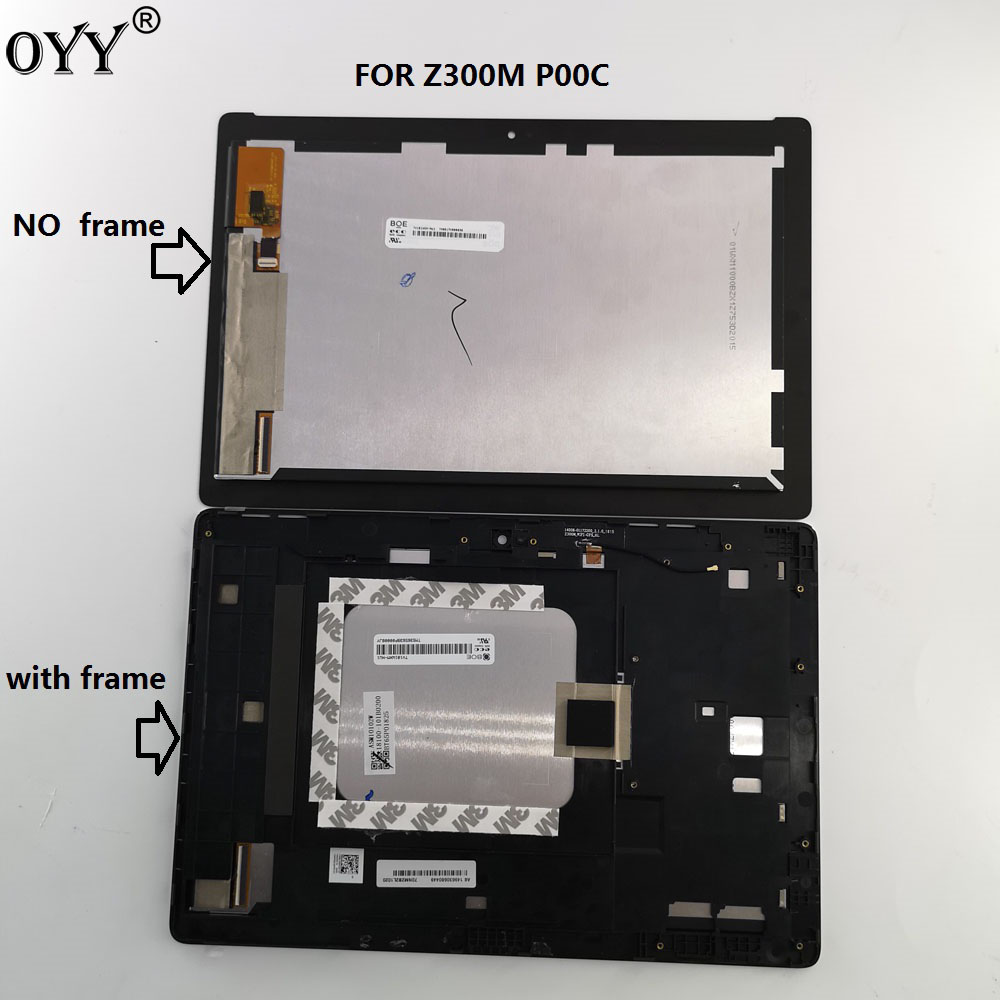 10,1 pulgadas para ASUS ZenPad 10 Z300M P00C pantalla LCD de matriz asamblea de pantalla táctil digitalizador con marco p00c Z300MX