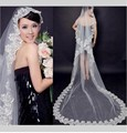 3 Meters Long Bride Cathedral Wedding Veils Lace Cheap Tulle Bridal Veils velos de novia voile mariage