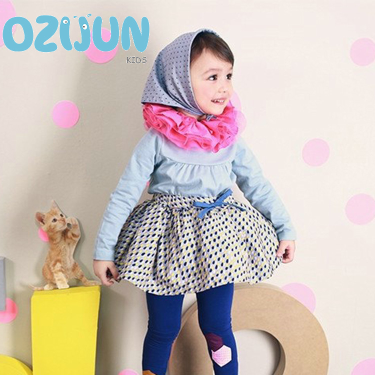 2018 girl long sleeve T-shirt children girl shirt with lace flower collar children's bottoming fashion girls princess blouses