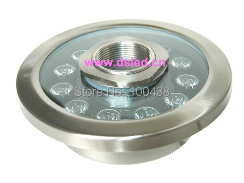 ФОТО Stainless steel,CE,P68,high power 12W LED underwater light,LED fountain light,DS-10-38-12W-RGB,24V DC,2-year warranty