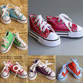 Assorted Colors 7.5cm Canvas Shoes For BJD Doll 1/3 Mini Doll Shoes for BJD Accessories for 16 Inch Sharon doll Boots snooker