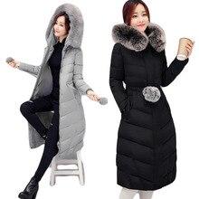 Manteau Femme hiver 2016 Winter Coat winter Jacket Women fur Overcoat Casual Cotton-padded Women's Winter Parkr JX050