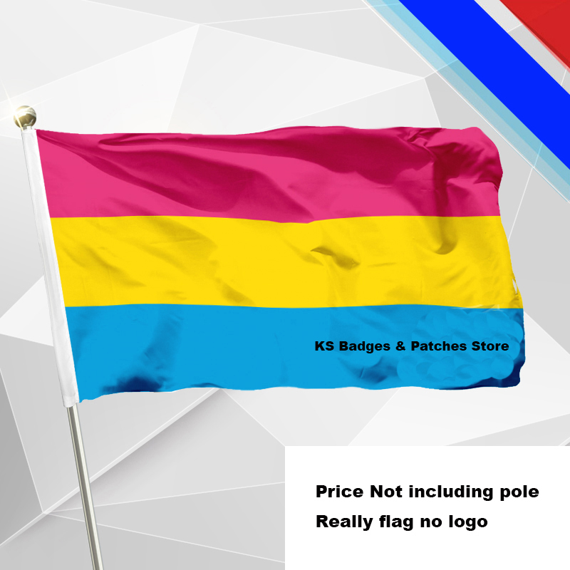 Pansexual <font><b>Pride</b></font> <font><b>Flag</b></font> Flying <font><b>Flag</b></font> #4 144x96(3x5FT) #1 288x192 #2 240x160 #3 192x128 #5 96x64 #6 60x40 #7 30x20 XY0135-1 image