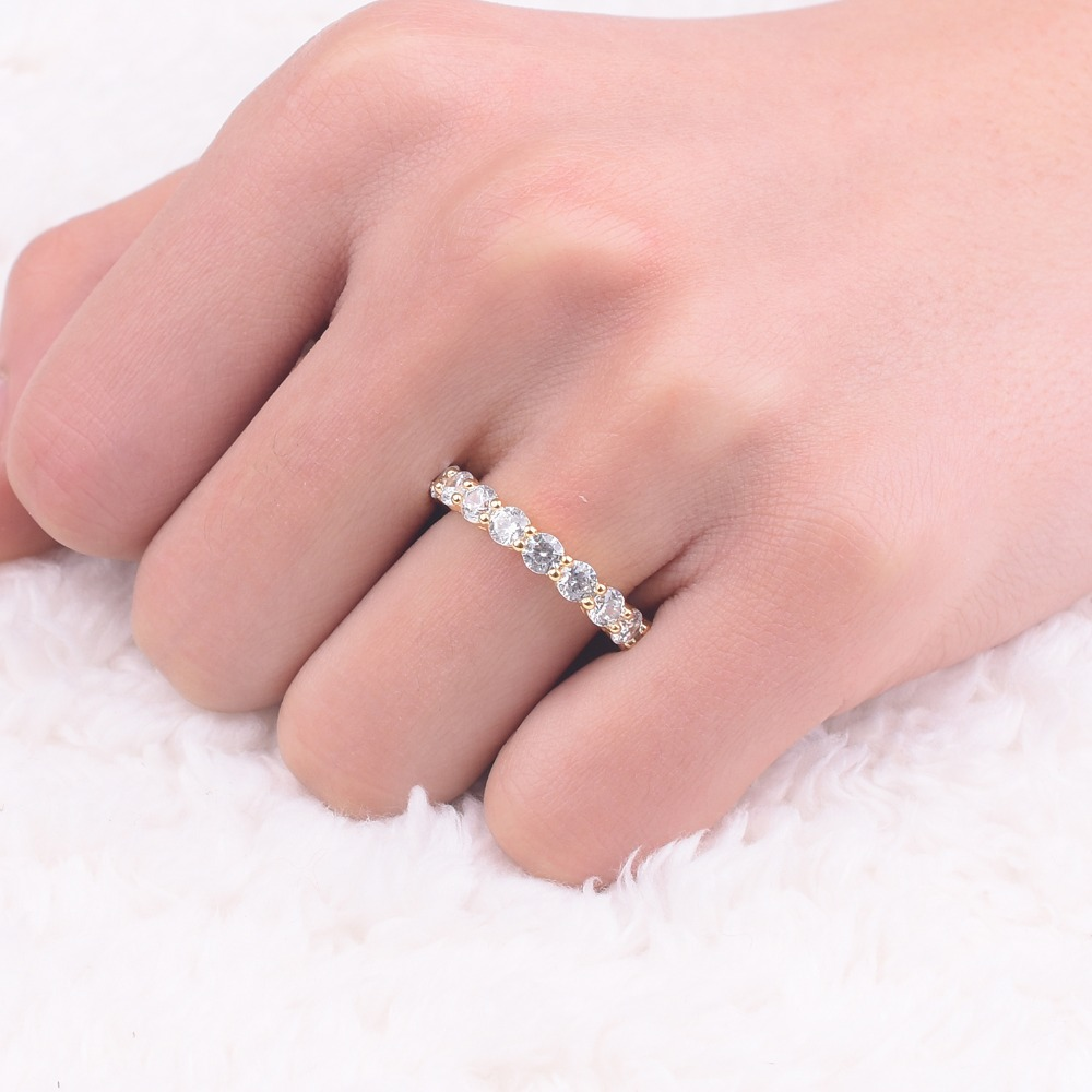 Brand 925 SILVER PAVE SETTING diamond painting full Ring ETERNITY ...