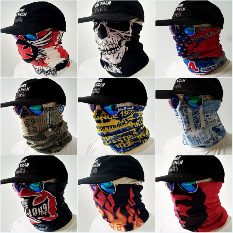 Mouth Face Mask Warmer Balaclava Fashion Masks Headband Scarf Outdoor Sports Ski Motorcycle Bike Caps Kawaii Face Shield Hats