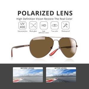Image 3 - AOFLY 브랜드 디자인 클래식 편광 선글라스 남자 여자 운전 파일럿 프레임 태양 안경 남성 고글 UV400 Gafas 드 솔 AF8186