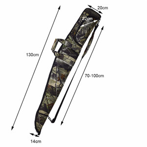Image 3 - Tactical 130cm Camo Gun Case Gun Bag Airsoft Rifle Shotgun Holster with Soft Padding Outdoor Military Hunting Gun Carrying Bag