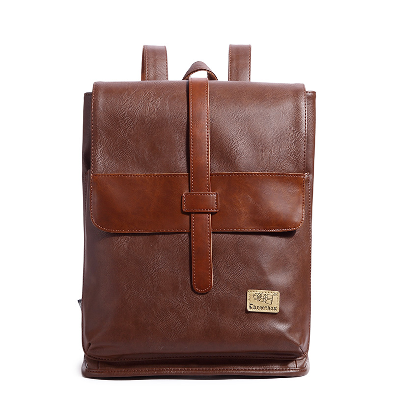 New Leisure Backpack High Quality Leather Travel Bag Vintage Fashion Vintage Backpack Laptop Backpacks School Bags 2017 new korean man pu leather backpack male new style junior middle school students leisure travel backpack fashion bag