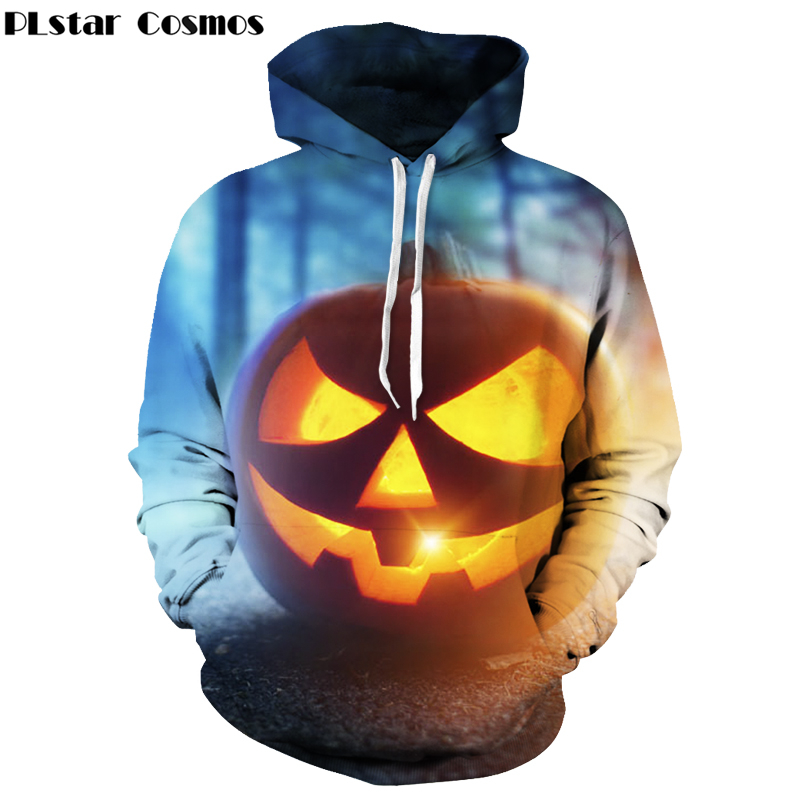 PLstar Cosmos 2018 Funny Pumpkin 3d Hoodies Halloween harajuku style Women/Men Sweatshirt Hooded Print casual Brand Pullovers
