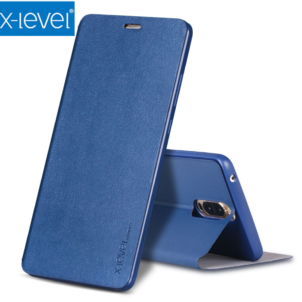 X-Level Flip Leather Case for huawei mate 9 pro Cases for mate9 pro Dual Sim Business flip Case Cover for mate 9 porsche design