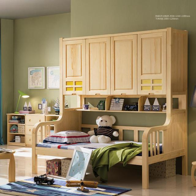 Children\'s bed Children\'s bedroom furniture imported pine green ...