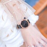Top Leather Strap Women Watches relojes para mujer Fashion Dress Ladies watch women relogio feminino Clock bayan kol saati