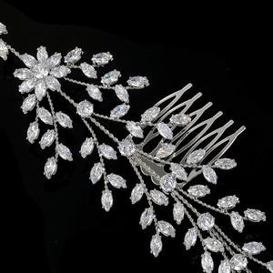 Image 5 - Tiaras และ Crowns HADIYANA ใหม่แฟชั่นงานแต่งงานอุปกรณ์เสริมผม Charming Luxury Elegant ผู้หญิง Zircon BC4860 Accesorios Mujer