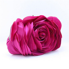 Hot 2017 Evening Bag Flower Bride Bag Purse full dress Party handbag Wedding day Clutches All Match Colorful Totes Gift EB034