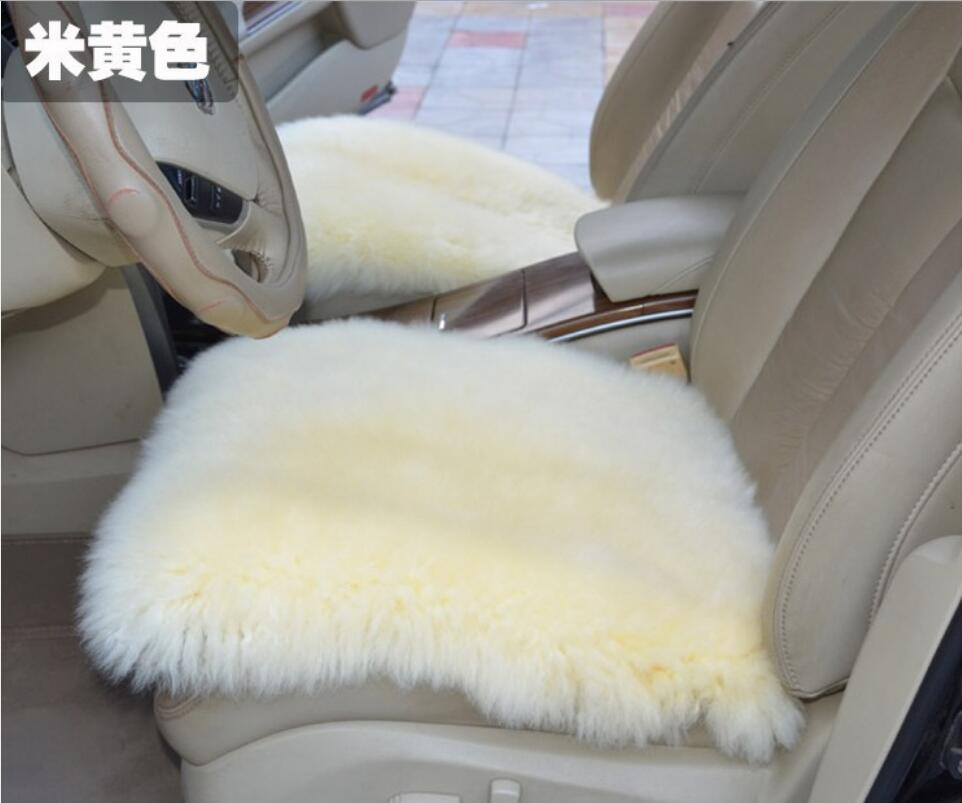 Natural fur sheepskin car seat covers single piece for fornt seat universal size of auto cover car capes on the seat automobiles
