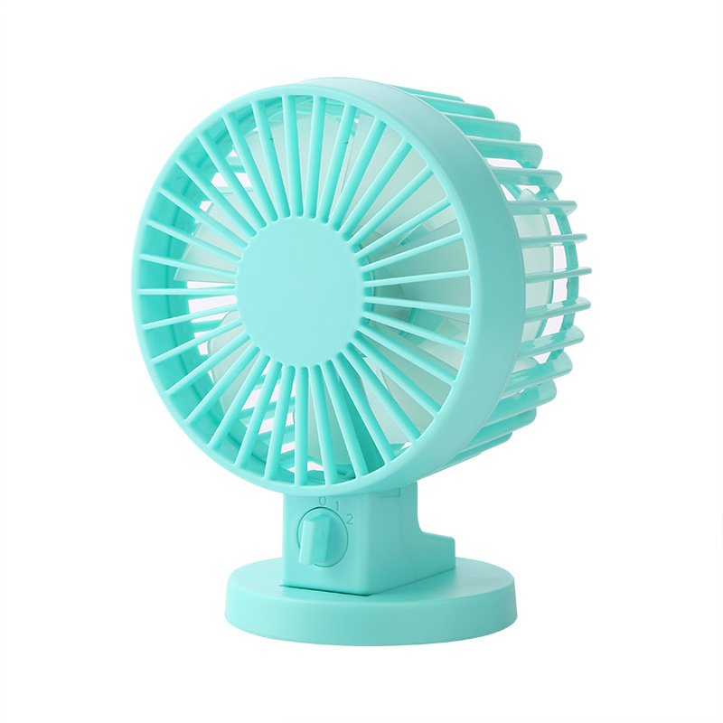 Mini Double Fan Blade USB Fan Charging Quiet Work Home Office Outdoors-Blue 2017 new elecom 2 4g mini mouse vwith charging for home office general balls the mouse girl