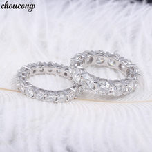Choucong Eternity Promise ring 6 มิลลิเมตร/4 มิลลิเมตร AAAAA Zircon Sona Cz 925 (China)
