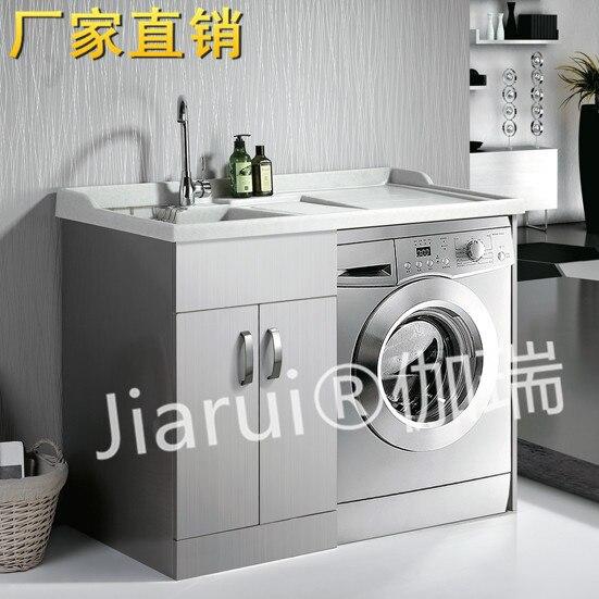 Lavadora Con Lavabo.Us 1259 5 European Stainless Steel Washing Machine Balcony Wash Closet Cabinet Cabinet Wash Basin Wardrobe Quartz On Aliexpress Com Alibaba Group
