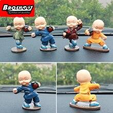 Broshoo стайлинга автомобилей Пьяный мастер маленьких монах статуэтки салонов автомобилей украшения Gongfu монахи Декор автомобилей 4 шт./компл.