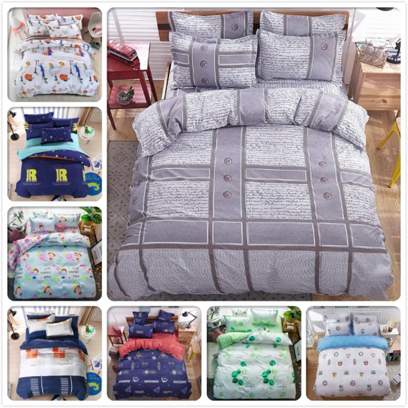 Power Source Gray Stripe Plaid Bedding Sets 3/4 Pcs Bedclothes Kids Single Double Queen King Size Duvet Cover 1.5m 1.8m 2m Bedsheet Bedlinens