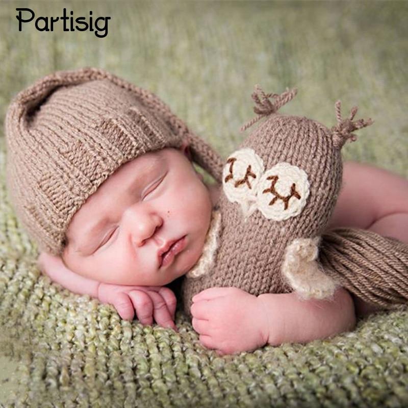 Dziecko Kapelusz noworodka Fotografia Rekwizyty Niemowlę Czapki i przędza Handmade Lalki Baby Zdjęcie Odzież