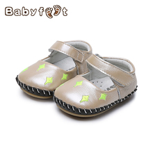 Babyfeet 2017 New Baby First Walkers Spring/Autumn Princess Girls Genuine Leather Single Non Slip Bottom Cute Fashion Shoes