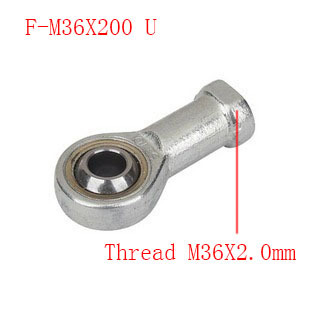 Free shipping 1pcs F-M36X200U internal Female thread Fisheye rod end joint bearing,Universal joint;Thread M36X2.0mm 30mm bore female metric threaded high quality internal thread rod end joint bearing free shipping