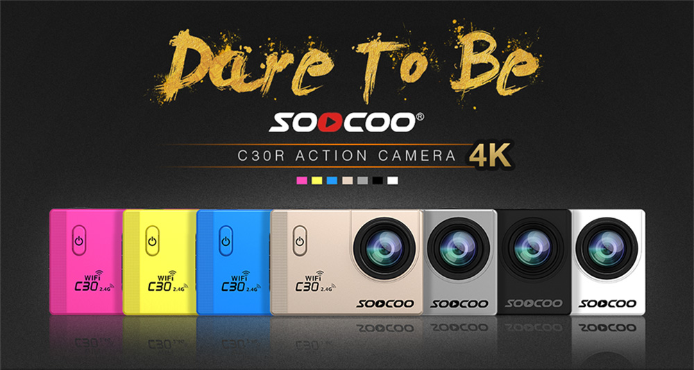 Sports camera 4K SOOCOO C30 Wifi Gyro 30M waterproof Colors