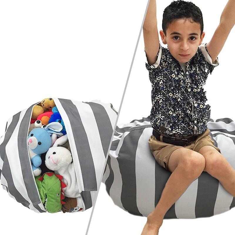 1 St Grote Capaciteit Opbergtas Creatieve Knuffel Opslag Bean Bag Stoel Speelkleed Draagbare Kids Kleding Speelgoed Organizer Tool