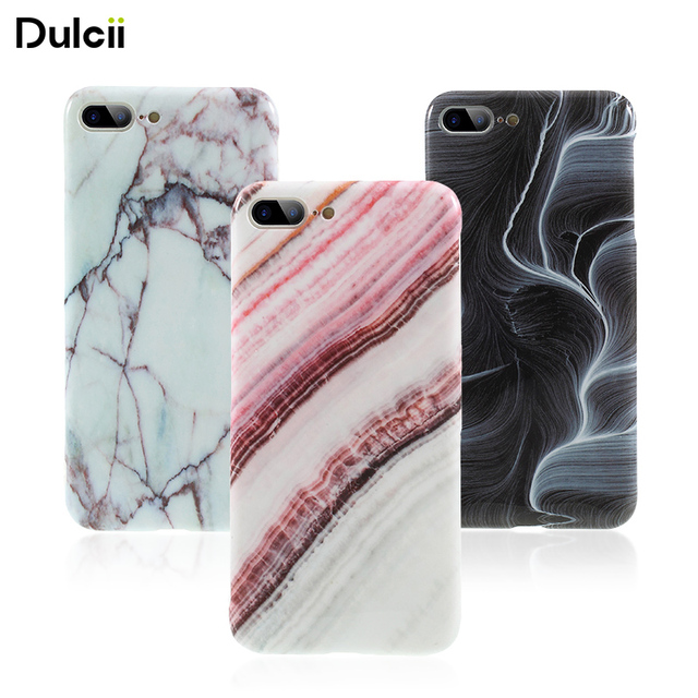 online store 8650f 31dc3 US $2.69 |DULCII Capa for iPhone 8 Plus Case Marble Pattern IMD TPU Soft  Phone Casing Cover for Apple iPhone 8 Plus 7 Plus 5.5 inch Coque-in Fitted  ...